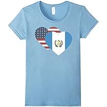Guatemala USA I love like flag heart half T Shirt tee