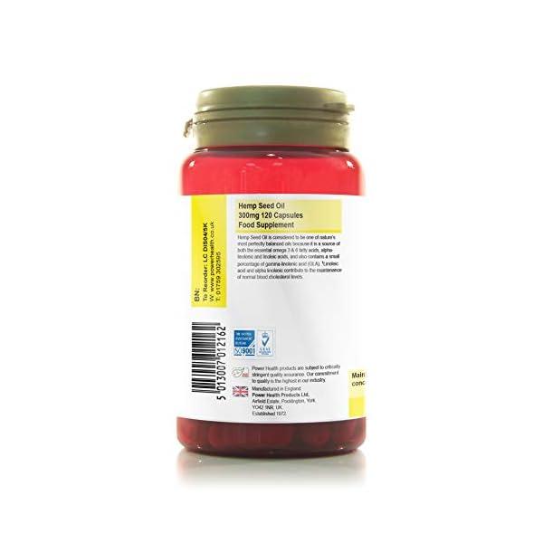 Power Health – Hemp Seed Oil Capsules – 300mg – 120 caps