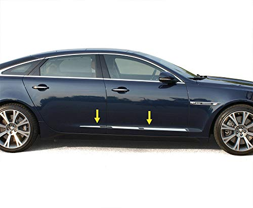 Made in USA! Works with 2009-2017 Jaguar XJ-L 2 1/8'' Taped Accent Trim 4PC