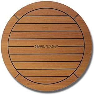 NAUTICMAN/® Marine cockpit table en bateau 60cm rond teck classique