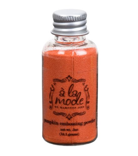 A La Mode .5 oz Embossing Powder - Pumpkin