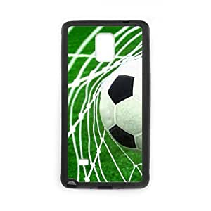 Custom Hard Plastic Back Case Cover for Samsung Galaxy Note 4 with Unique Design Soccer Ball