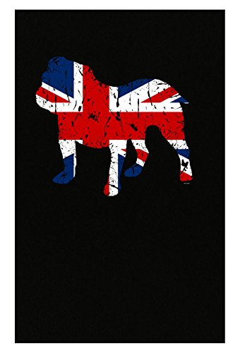 BADASS REPUBLIC English Bulldog Union Jack Flag Style Lover Owner Gifts - Poster
