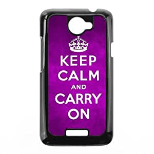 Keep Calm Carry On HTC One X Cell Phone Case Black O6673960
