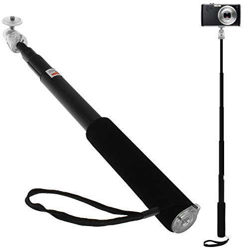 iGadgitz Black Extendable Telescopic Handheld Self Portrait