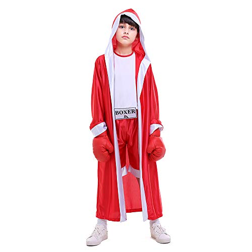 ROZKITCH Children Boxer Halloween Boxing Costume Dress-Up Role Play Party Red]()