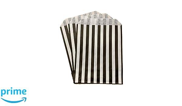 Packitsafe Bolsas de caramelo negras, bolsa de papel a rayas ...