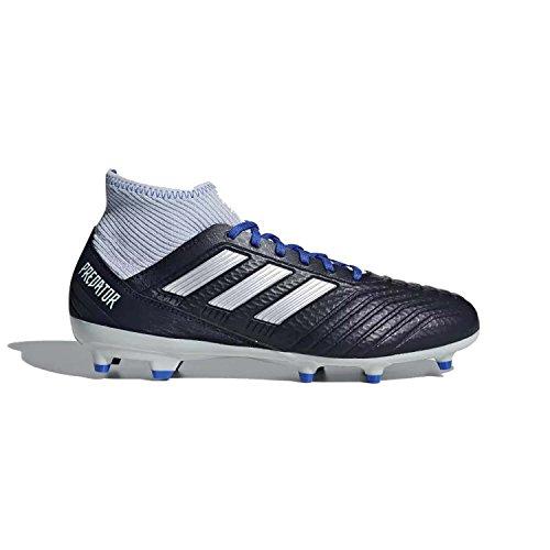 adidas Women's Predator 18.3 Firm Ground Soccer Shoe, Legend Ink/Silver Metallic/aero Blue, 8 M US