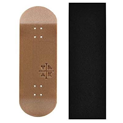 Teak Tuning Engraved Logo Deck, Synthetic Wood Hybrid, 32mm Wide, 5-Ply Wooden Deck Made in The USA: Toys & Games