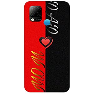 Unaxo Mom Dad Love,Heart Design Printed Back Cover for Infinix Hot 10S,Back Case for Infinix Hot 10S