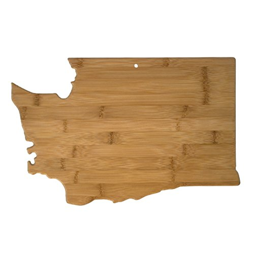 Totally Bamboo Washington State Shaped Bamboo Serving and Cutting Board -