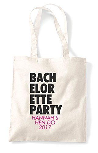 Bag Customised Tote Hen Natural Party Text Do Bachelorette Personalised Stacked Shopper f56w8