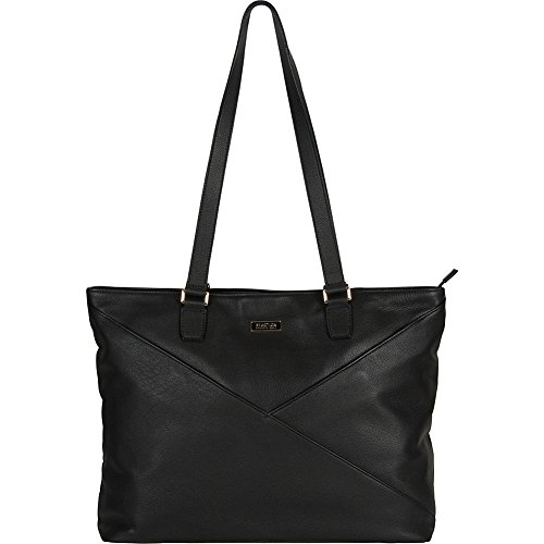 Kenneth Cole Reaction Women's Leather Top Zip 15'' Computer Business (Rfid) Laptop Tote, Black, One Size by Kenneth Cole REACTION