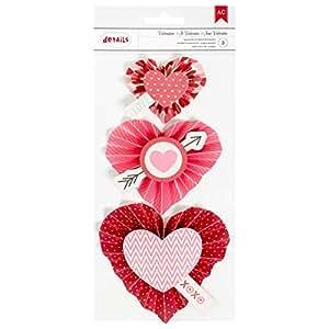 American Crafts Valentine Rosette Sticker