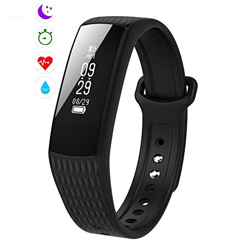 Qpw Fitness tracker, sports bracelet, intelligent heart rate monitoring, IP67 pedometer, compatible with Android,ios