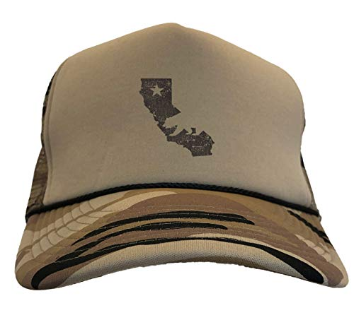 Tcombo California State Map - Cali Bear Camoflauge