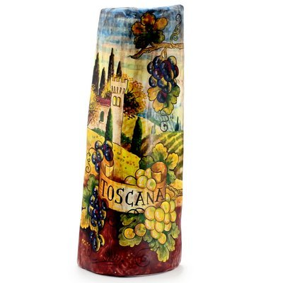 TOSCANA: Tuscan Roof Tile - Tuscan Landscape with Grapes [#0385A/C-TOS] (Biscotti Toscana)