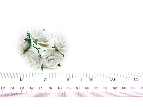 1 White Paper Flowers Paper Rose Artificial Flowers Fake Flowers Artificial Roses Paper Craft Flowers Paper Rose Flower Mulberry Paper Flowers 20
