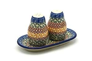 Polish Pottery Salt & Pepper Set - Autumn