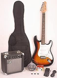 Amazon.com: SX RST Black full size electric guitar package w/ amp ...