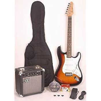 sx rst 3ts full size electric guitar package w ga1065 includes guitar amp strap. Black Bedroom Furniture Sets. Home Design Ideas