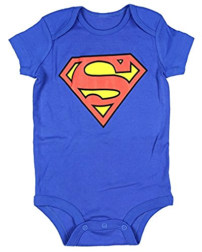 Superhero Onesies For Babies (DC Comics Superman Onesie Romper (6 Months, Blue))