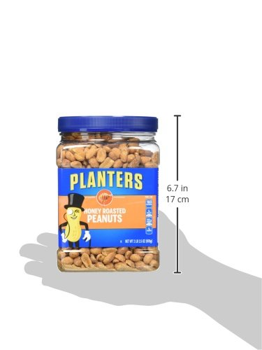 Planters Honey Roasted Peanuts, 34.5 Ounce, 2 Count