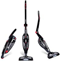 HoLife 2-in-1 Cordless Stick Vacuum Cleaner Handheld Vacuum with High Powered 2000mAh Li-ion Rechargeable Battery and Corner Lighting for Carpet, Hard Floor and Pet, Black