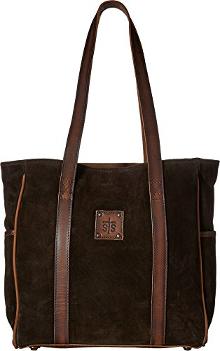 STS Ranchwear Women's Heritage Tote Chocolate Suede/Tornado Brown One Size -