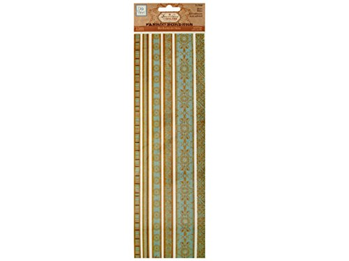 Blues Decorative Fabric Borders Stickers-Package Quantity,48