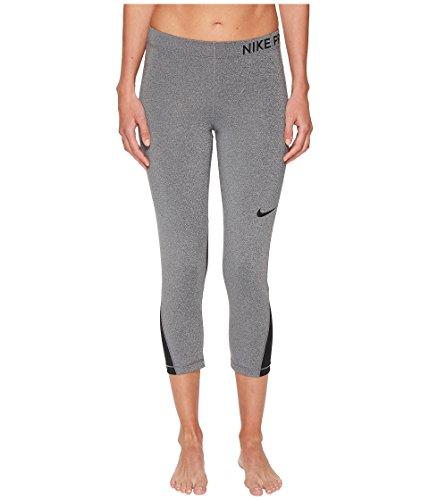 Nike Women's Pro Capri Charcoal Heather/Black/Black Small 20.5 ()