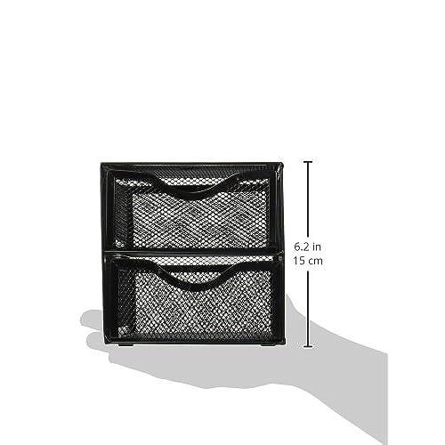 free shipping Rolodex Black Mesh Desktop Organization Cube (FG9E5600BLA)