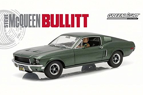GREENLIGHT 12938 1:18 1968 FORD MUSTANG GT BULLITT W/ STEVE