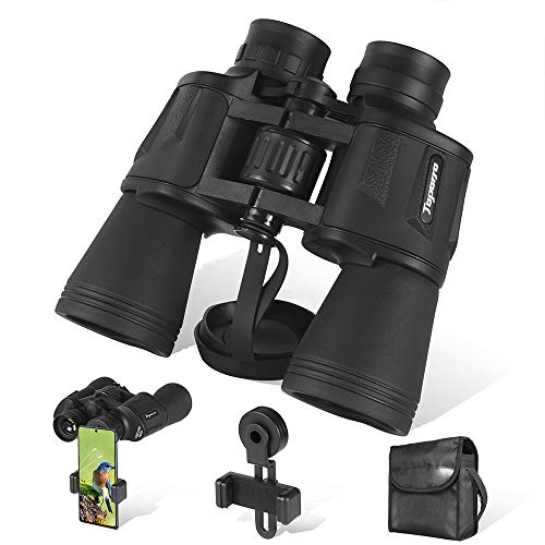 20x50 Binoculars for Adults with Low Light Night Vision - 26mm Large Eyepiece BAK4 Prism FMC Lens - HD Professional/Waterproof Binoculars with Phone Adapter for Travel Bird Watching Hunting