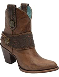 CORRAL Womens Engraved Harness Short Boot - C2907