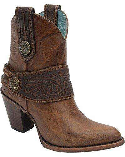 Women's Engraved Short Tan C2907 Boot Harness CORRAL 41HUqU