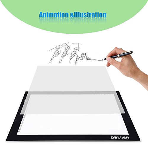 "Light box New Year Gift Dbmier A4S Tattoo Supplies USB Powered Light Pad EXTREME Thin Artcraft Tracing LED Light Board Active Area 8.27"" X 12.20"" w/ 60"" USB Power Cord"
