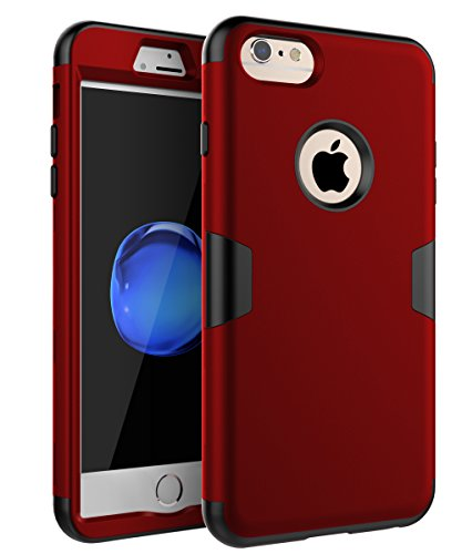 TOPSKY Case for iPhone 6 Plus/6s Plus Case,Three Layer Heavy Duty High Impact Resistant Hybrid Protective Case for iPhone 6 Plus and iPhone 6s Plus, Red/Black