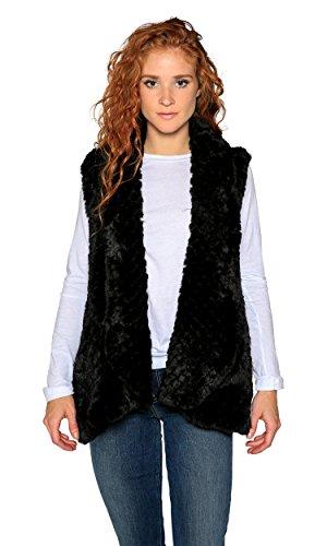 Love Token Ali Faux Fur Vest, Black, M by Love Token (Image #2)