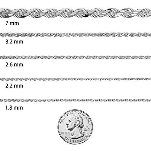 1.8mm-7mm 925 Sterling Silver