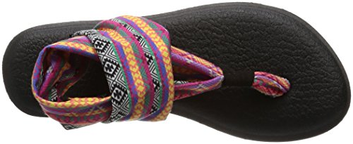 Sanuk Yoga Sling#2 Prints, Chanclas Para Mujer Mehrfarbig (Magenta/Multi Tribal Stripes)