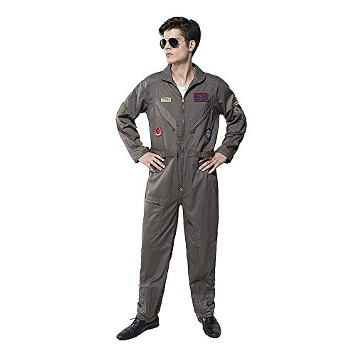 Top Gun Costume Adult Men's Flight Suit Movie Cosplay (XXXL) -