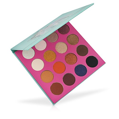 MISKOS 16 Color Summer Natural Eyeshadow Palette 9 Shimmer 7 Matte Naked Nude Netural Eye Shadows Highly Pigmented Waterproof Eye Makeup Kit by MISKOS