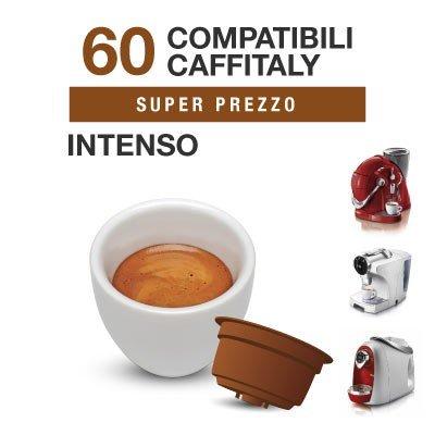 Caffitaly – 60 Cápsulas de café compatibles Intenso: Amazon.es: Alimentación y bebidas