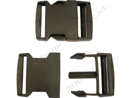 1 x 50mm Black Side Release (Quick Release) Buckles Athena Crafts AC-HL-BCK-50MM-1-B