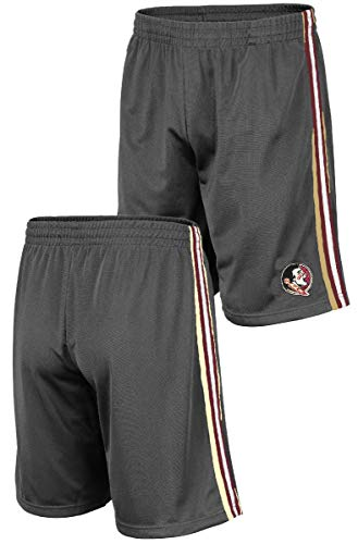 Colosseum NCAA Men's Grey Santiago Synthetic Shorts (X-Large, Florida State Seminoles)
