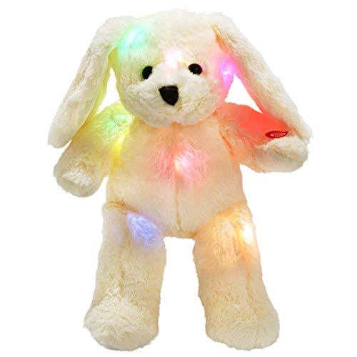 WEWILL LED Bunny Stuffed Animals Glow Rabbit with Floppy Long Ears Nightlight in Dark Gift for Kids on Christmas Easter , ()