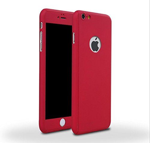 Amazon.com - iPhone 6/6s Full Body Hard Case-Aurora Red Front and ...
