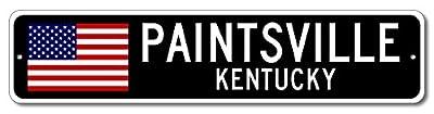 PAINTSVILLE, KENTUCKY USA City Flag Sign Aluminum Patriotic Sign