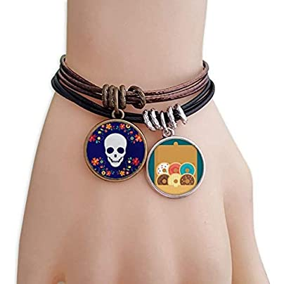 SeeParts Flower Skull Illustrations Bracelet Rope Doughnut Wristband Estimated Price £9.99 -